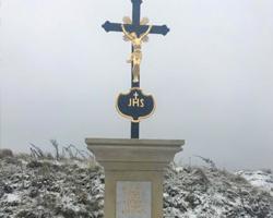 Kopie kamenného / litinového kříže, Kaly