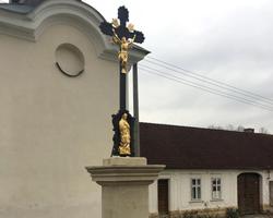 Kamenný / litinový kříž, Třebětín