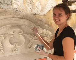 Uliční fasáda Jihlava, restaurování štukové výzdoby